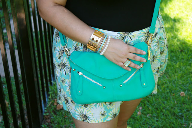 Floral print shorts outfit |S South Florida Beauty & Fashion Blogger | Palm Beach, Fl