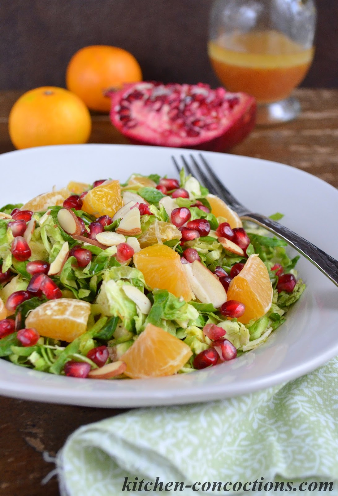 Brussels Sprout Salad with Pomegranate and Orange {Plus 10 Stress-Free ...