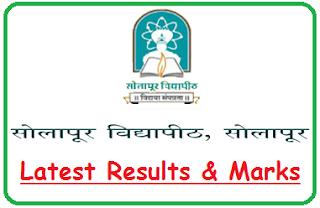 Solapur University Results Oct Nov 2018