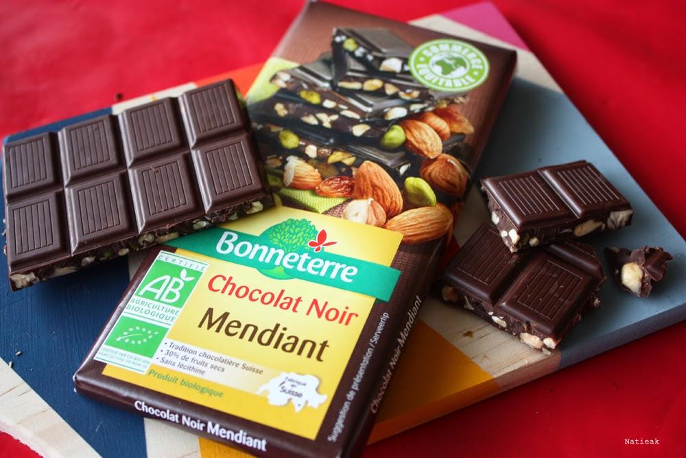Le chocolat noir mendiant