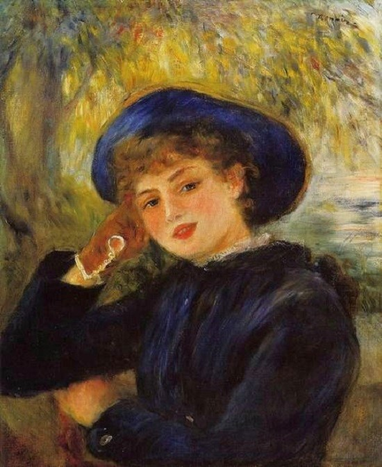Famous Painting Woman In Blue Hat
