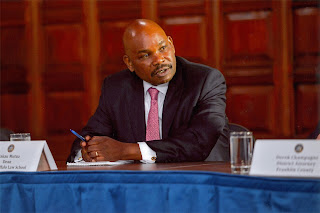 "Prof Makau Mutua advise to Jubilee, ""They have diverted attention for Dubai scandal to Joho."" PHOTO 