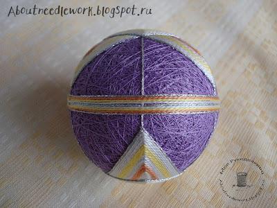 Японское искусство вышивки шаров темари