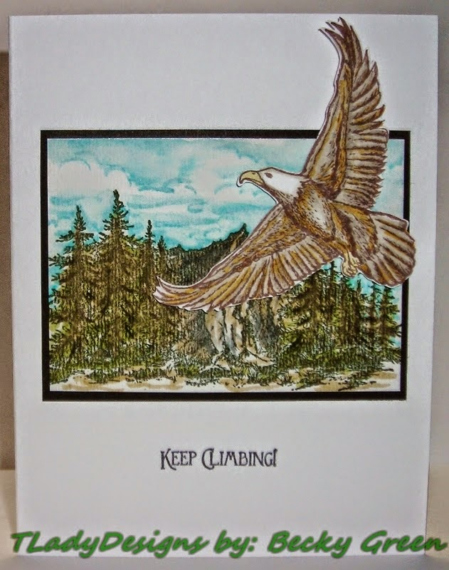 Our Daily Bread designs On Eagles' Wings, ODBD Keep Climbing, Customer Card of the Day by Becky Green aka TLady