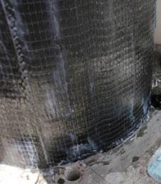 carbon fiber reinforced concrete for earthquake damage repair
