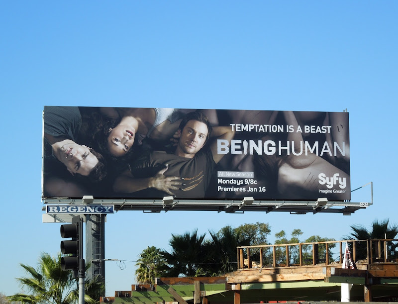 Being Human season 2 USA billboard