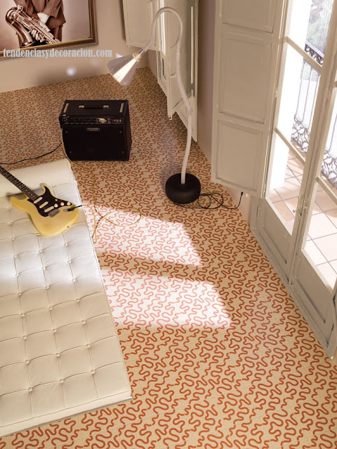 Suelos con mosaicos hidrulicos una vuelta a lo tradicional