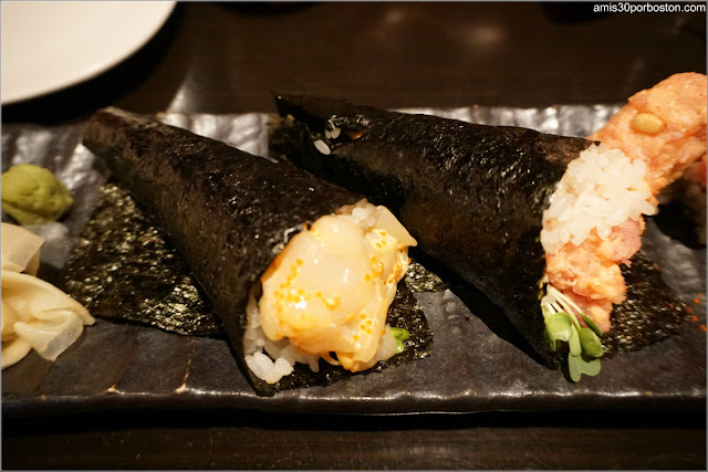 Menú Dine Out Pabu Boston: Hand Roll