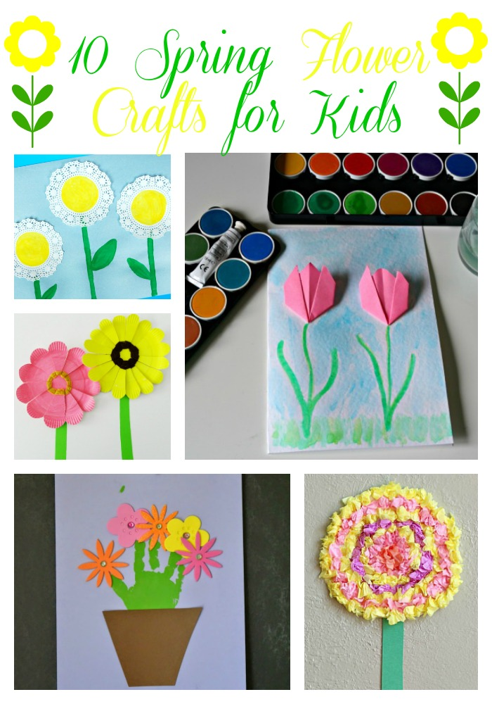Sweet silly sara 10 spring flower crafts for kids by making some spring flower crafts with the kids i found 10 pretty as a posey crafts to make with my kids and i think your kids will love them too mightylinksfo Choice Image