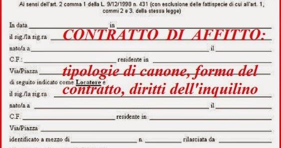 Contratti Di Affitto Casa, Canone Libero O Concordato: Diritti  Dellu0027Inquilino ~ Ilportafoglio.info Casa