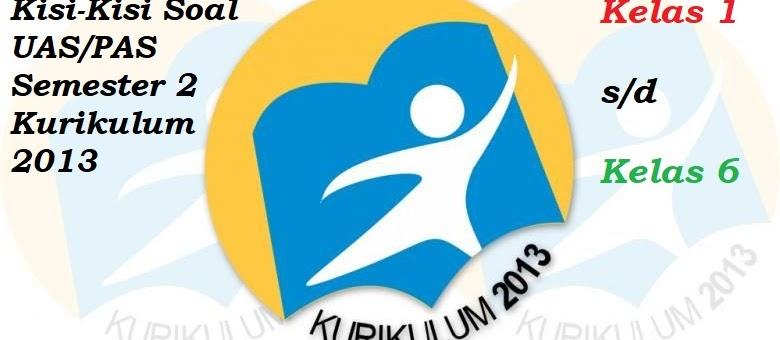 Kisi-kisi Soal UAS/PAS Kelas 6 Semester 2 Kurikulum 2013 Revisi Terbaru