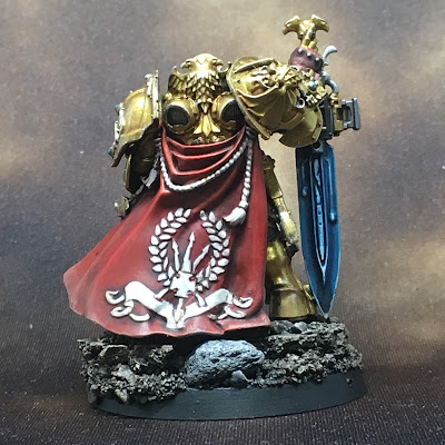 WIP Adeptus Custodes or Custodian Guard squad leader gallery shot back