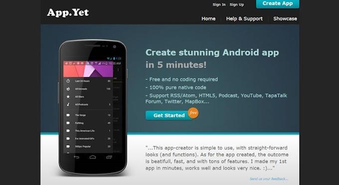 Kendi Android Uygulamanızı kolayca ve ücretsiz oluşturun