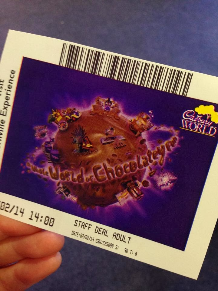 My entrance ticket for Cadbury World