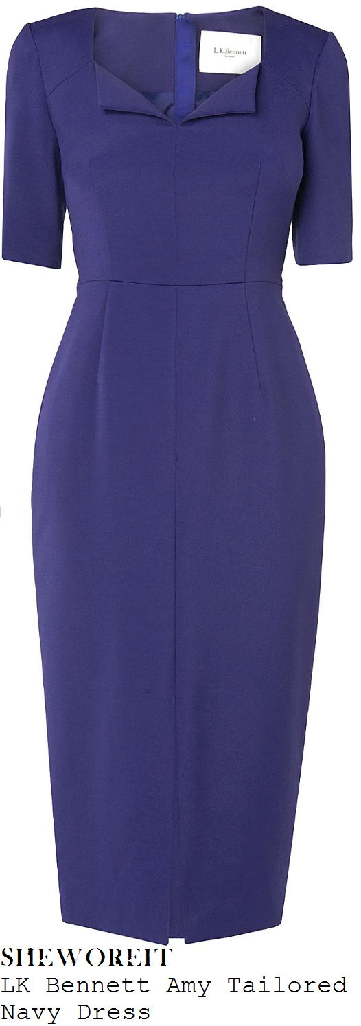 susanna-reid-lk-bennett-amy-navy-fold-detail-tailored-dress