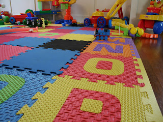 Best Toys for Kids with Low Vision--Textured Floor mat