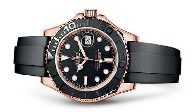 Everose Gold Rolex Yachtmaster with Oysterflex Bracelet