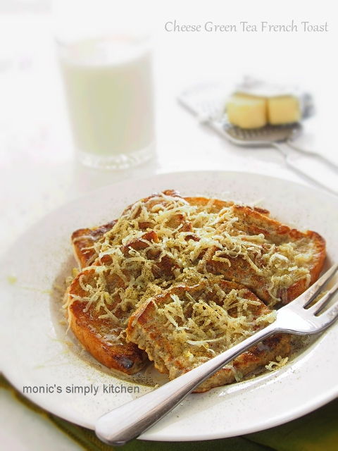 cheese green tea french toast
