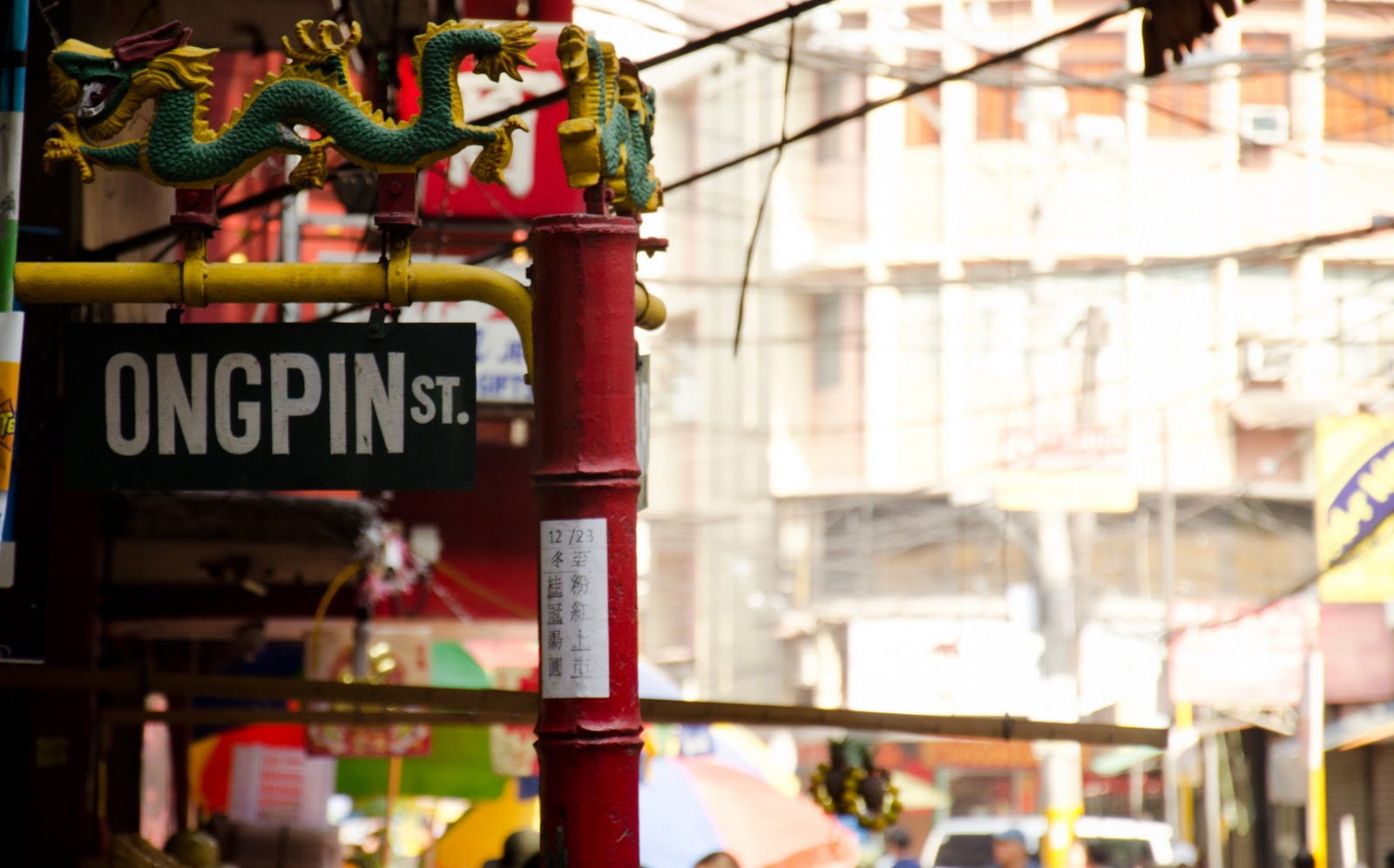 The famous Ongpin street