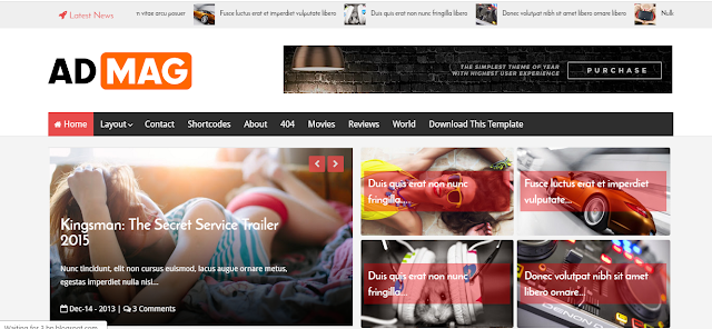 Ad Mag Blogger Template Free Download