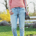 Boyfriend jeans + stripes