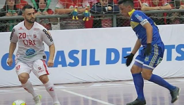Horizonte Futsal perde a 1º e terá que vencer o jogo da volta contra o Erechim-RS.