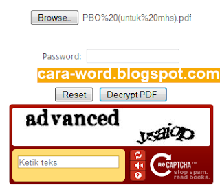 cara menghilangkan password pdf