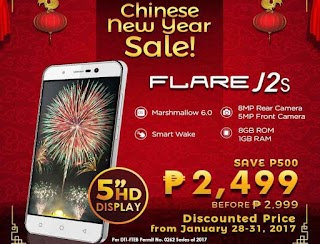 Cherry Mobile Flare J2s – Android 6.0, 8-MP Camera and HD Display