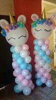 Decoración temática de unicornios globos