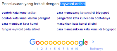 Contoh Long-tail keywords