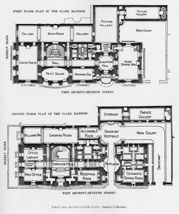 Floor Plans of Gothic Style Mansion