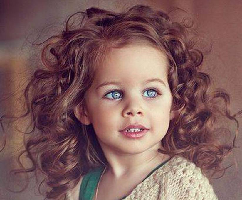 Curly Hair Baby Girl Image