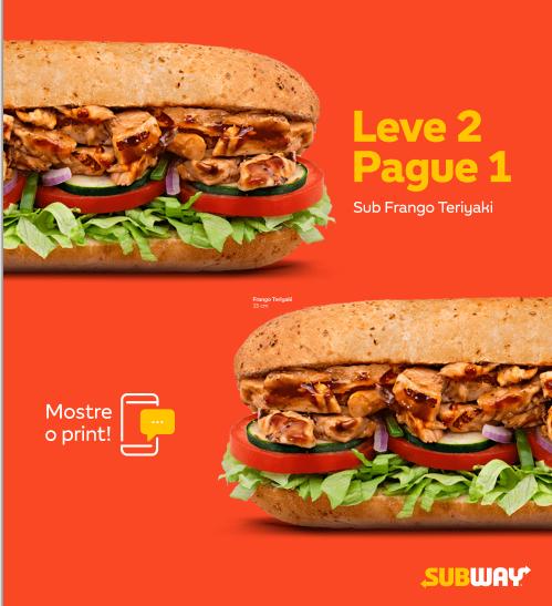 """Promoção Subway """"Leve 2 Pague 1"""" Blog Top da Promoção #topdapromocao"""