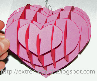 sliceform valentine heart