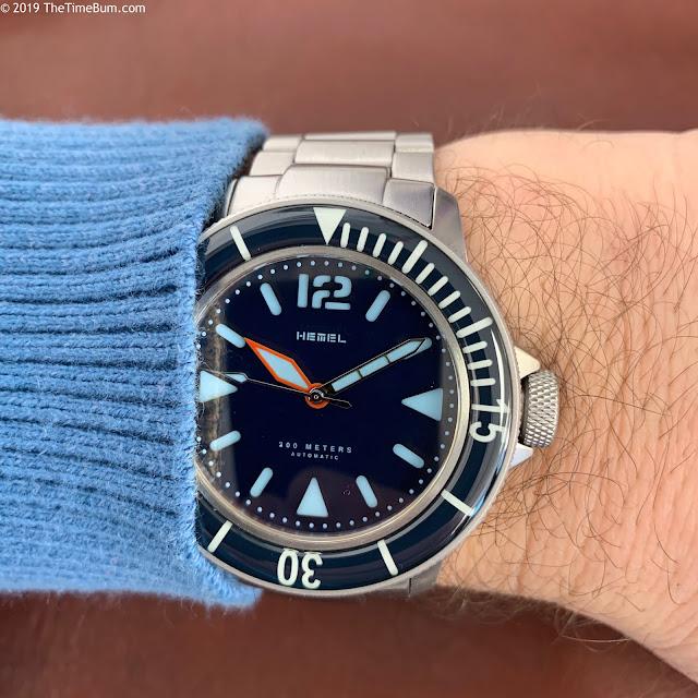 Hemel Hydroendurance HD1 Blue wrist