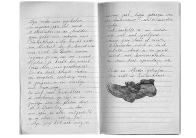 image from  Snapshots by Corina Duyn, of diary page by Miep Duyn