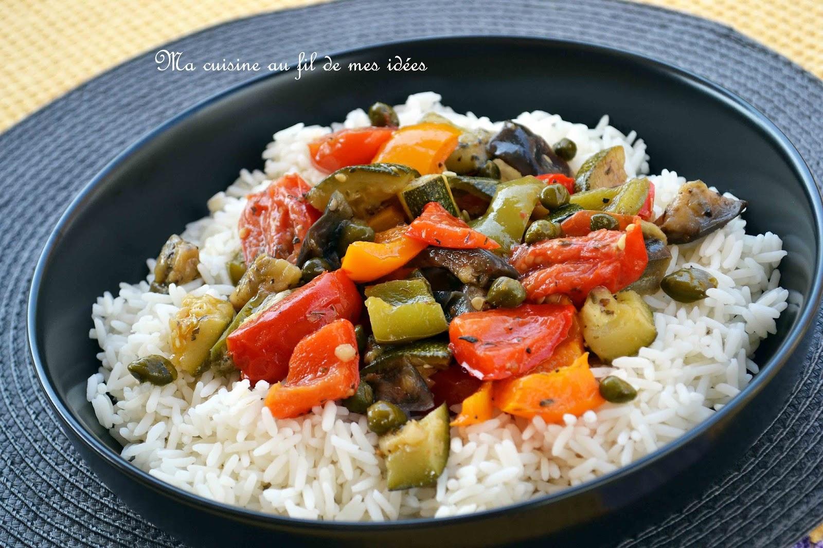 Riz et ratatouille ma mode blogs de cuisine - Quelle quantite de riz par personne ...