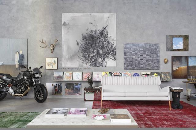 Дневник дизайнера: Мистер Black или интерьер гостиной для холостяка от Гильермо Торрес