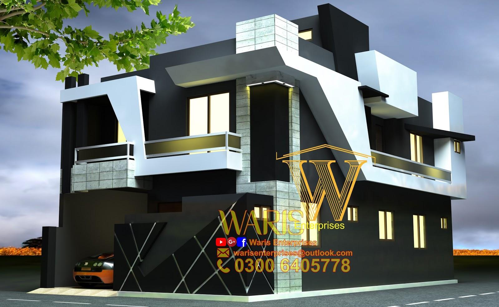 10 Marla 35X65 House Design in Gujranwala Pakistan Door