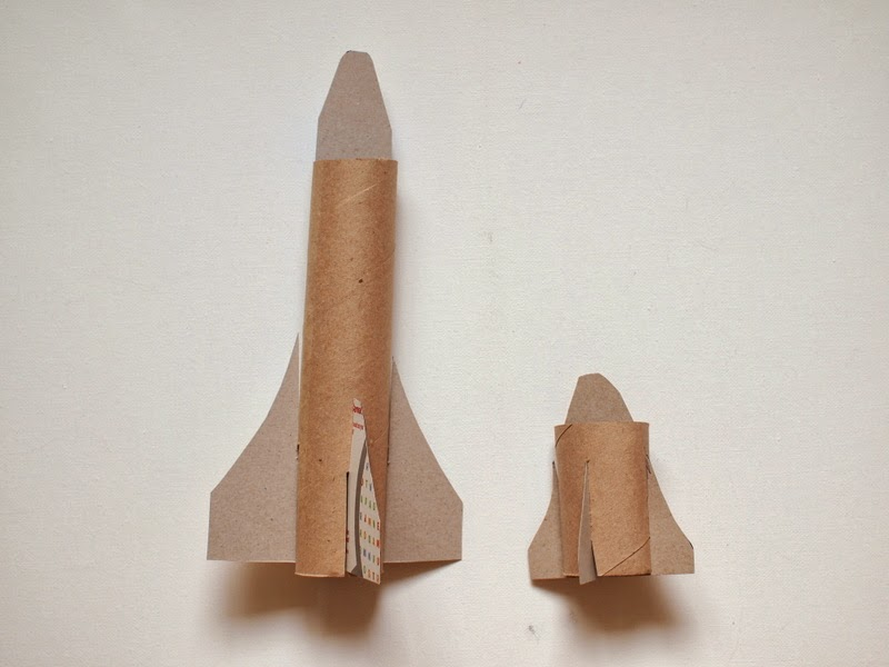 assemble your cardboard space shuttles