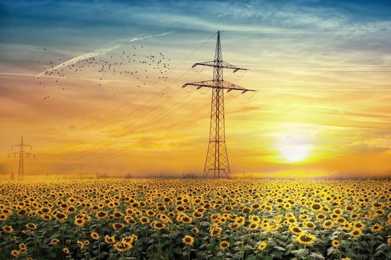 Torre de linhas elétricas