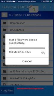 cara transfer file jarak jauh dari android