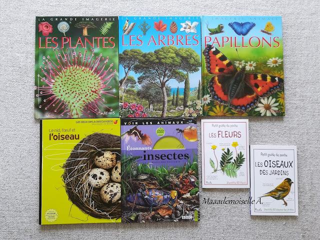 || Sélection de livres sur le printemps - Les plantes - Les arbres  Les papillons - Le nid, l'oeuf et l'oiseau - Etonnants insectes - Les fleurs - Les oiseaux des jardins