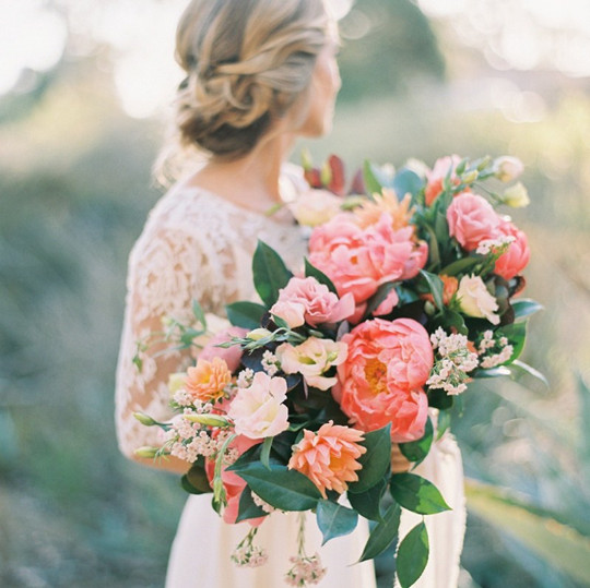 colorful vintage fall wedding flowers bouquets