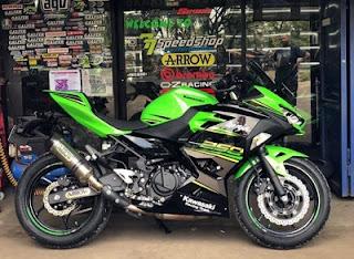 Kawasaki Ninja 250 cc 2018 hijau red