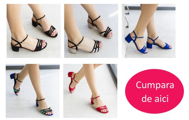 sandale de zi din piele intoasra ieftine