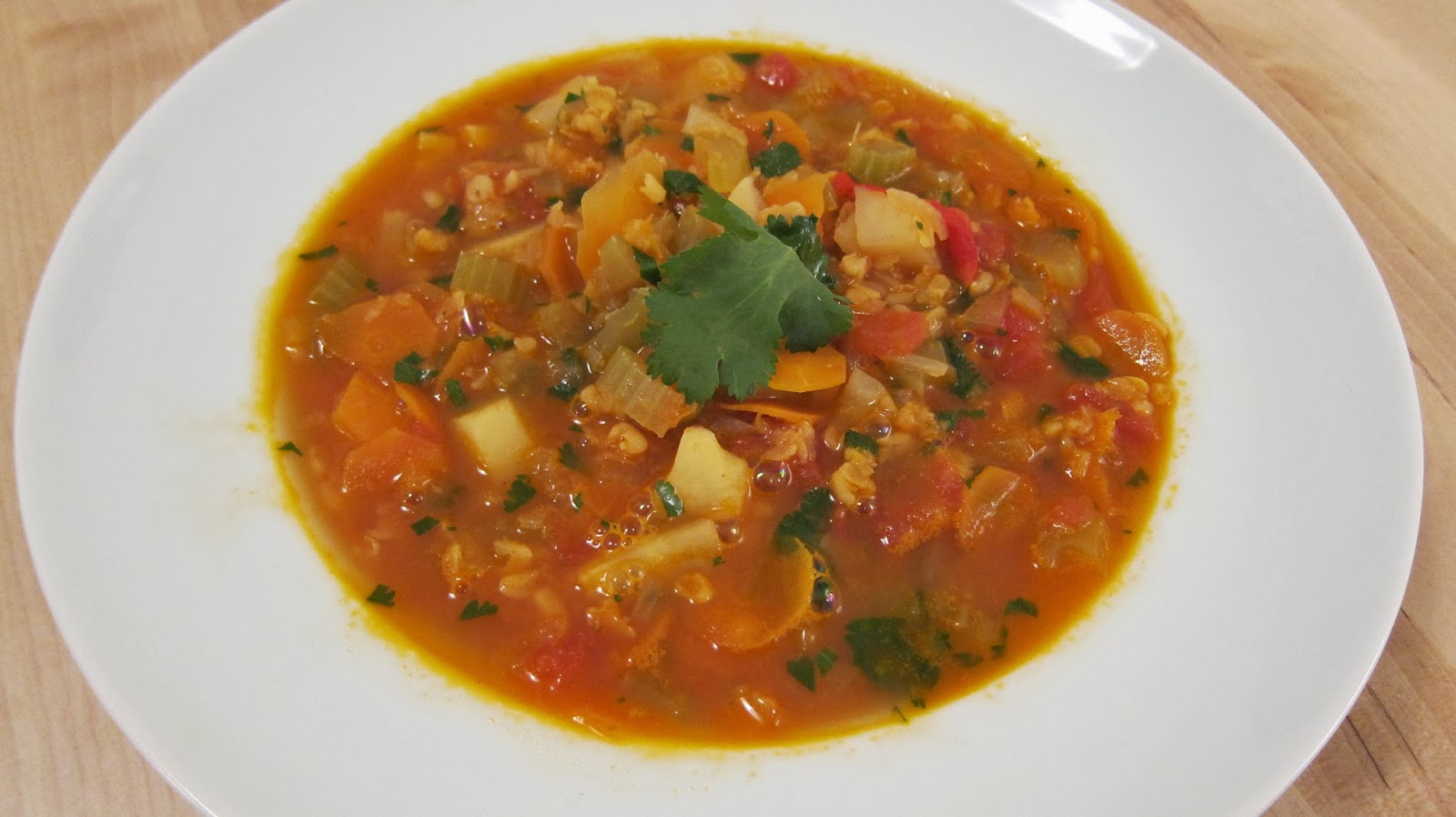 Beyond Recipes A Food And Recipe Blog Vegetable And Lentil Soup With An Exotic Twist