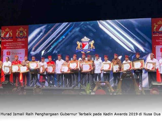 Murad Ismail Raih Penghargaan Gubernur Terbaik pada Kadin Awards 2019 di Nusa Dua