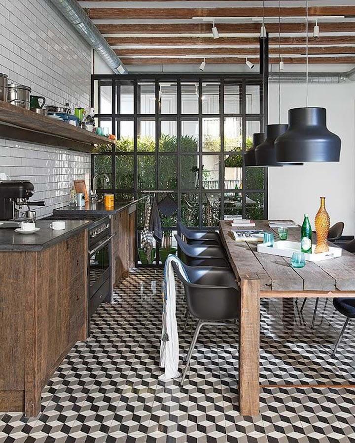 pavimento hidráulico cocina