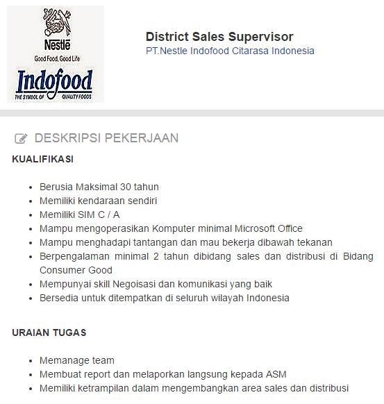 Lowongan Kerja PT.Nestle Indofood Citarasa Indonesia Terbaru 2019.